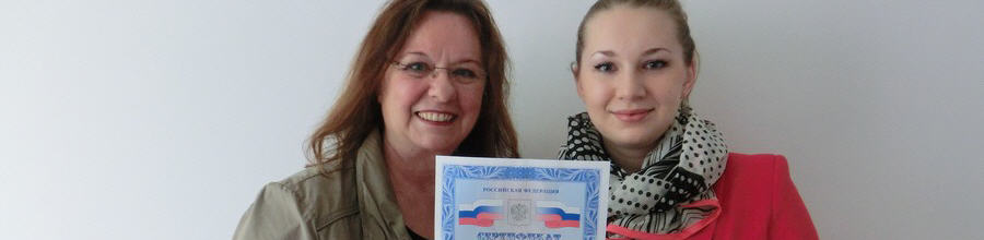 Anna Litau besteht russisches Sprachzertifikat TRKI 2 mit Auszeichnung