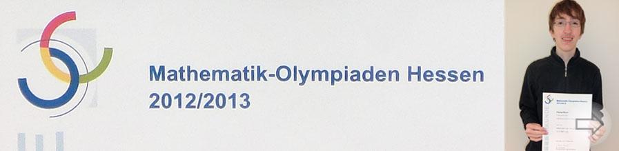 Florian Ebert Zweitplatzierter bei der Mathematik-Olympiade Hessen