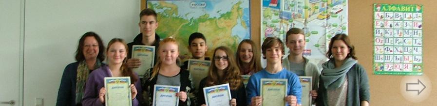 Russischlerner des Starkenburg-Gymnasiums streichen Preise ein