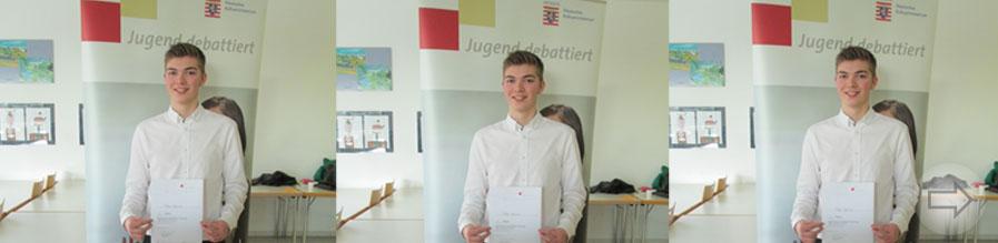 """Philipp Ofenloch ist Regionalsieger 2014 bei """"Jugend debattiert"""""""