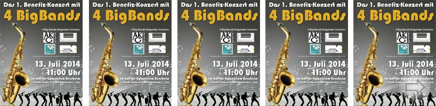 Das erste Benefiz-Konzert mit 4 BigBands