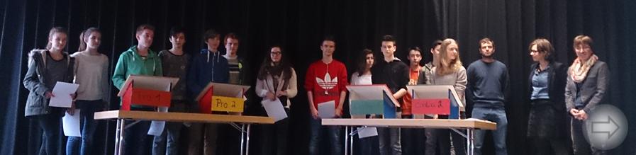 Schulwettbewerb Jugend debattiert am 01.12.14 am Starkenburg-Gymnasium