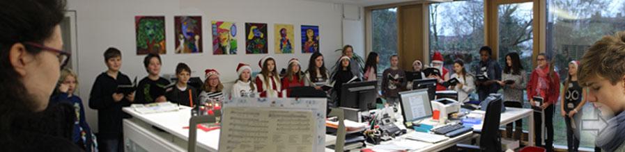 Weihnachtssingen des Mittelstufenchors