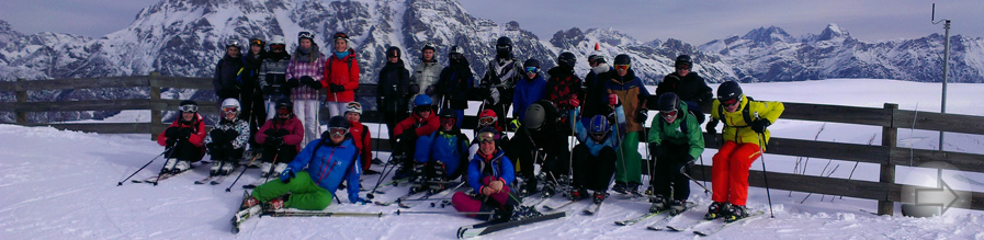 Auf Skiern dem Abschluss der Mittelstufe entgegen