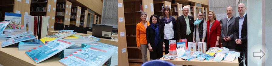 Spenden für die Mediothek des Starkenburg-Gymnasiums