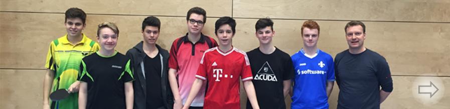 Wiederholter Sieg des Starkenburg-Gymnasiums im Regionalentscheid Tischtennis