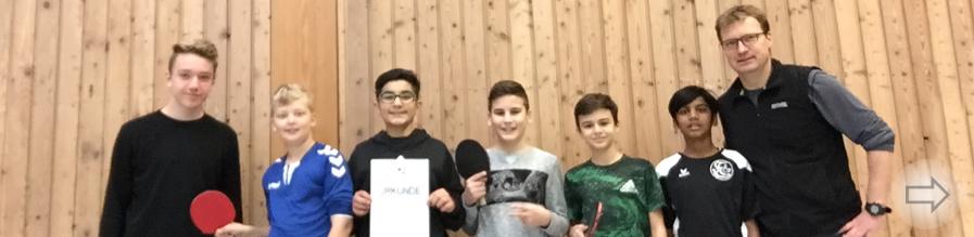 Unerwarteter Sieg des Starkenburg Gymnasiums im Kreisentscheid Tischtennis