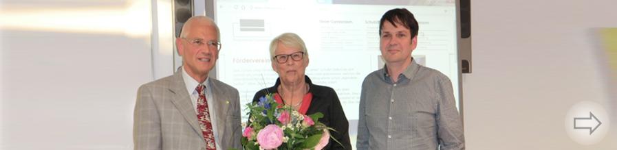 Der Förderverein des Starkenburg-Gymnasiums verabschiedet sein langjähriges Mitglied Frau Heidemarie Müller-Herrmann.