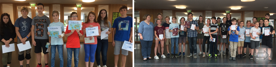 Ehrungen für erfolgreiche Wettbewerbsteilnahme am Starkenburg- Gymnasium