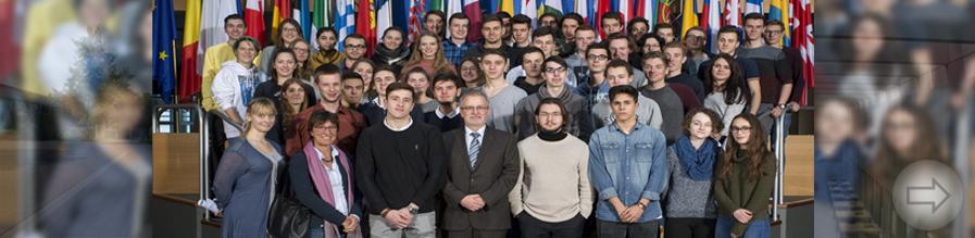 Starkenburg-Schüler besuchen das Europaparlament in Straßburg und schnuppern europäische Luft